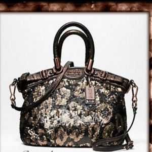 Limited edition coach Madison Sophia sequin satche